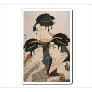 [Envoi de courrier] Tapis de souris Ukiyo-e 5001 Tapis de souris Ukiyoe Utamaro Kitagawa Sanbijin Japon [Pas de paiement à la livraison]