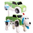 変形ドライブカー 犬 グリーン 走っている途中に車が犬に変形するおもちゃ【あす楽対応】