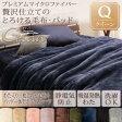 【送料無料】プレミアムマイクロファイバー贅沢仕立てのとろける毛布・パッド〔gran〕グラン 発熱わた入り2枚合わせ毛布+パッド一体型ボックスシーツ クイーン アッシュグレー【代引不可】