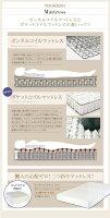 【送料無料】ずっと使えるロングライフデザインベッド【Vermogen】フェアメーゲン【日本製ボンネルコイルマットレス付き】ワイドK190ホワイト【】【P16Sep15】