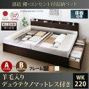 【送料無料】〔組立設置料込み〕連結 棚・コンセント付収納ベッド 〔Er...