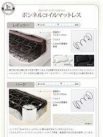 【送料無料】デザインスチールすのこベッド〔Dualto〕デュアルトフットロー〔ボンネルコイルマットレス:レギュラー付き〕シングル〔フレーム色〕シルバーアッシュ〔マットレス色〕ブラック【】