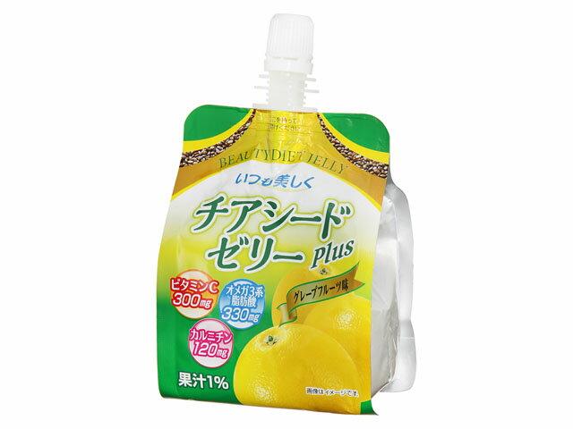 FVイーストジャパン チアシードゼリー グレープフルーツ 24食入り×1ケース【クレジット決済のみ】(MS)