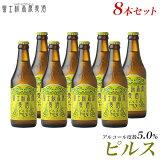 【ビールギフト】【お酒 プレゼント お歳暮 挨拶など】地ビール「富士桜高原麦酒ピルス8本セット」【クラフトビール】【楽ギフ_のし】【楽ギフ_のし宛書】