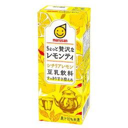 [1本85円/72本入]マルサンアイ 豆乳飲料 ちょっと贅沢なレモンティ シチリアレモン 200ml×48本 送料無料 マルサン レモンティー