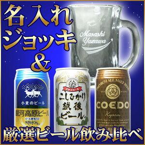 【送料無料】名入れビールジョッキとビールがセットになったオリジナル名入れギフト。銀河高原...
