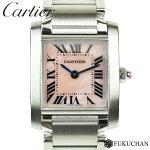 【Cartier/カルティエ】タンクフランセーズSMピンクシェル文字盤SS/QZW51028Q3【中古】≪送料無料≫