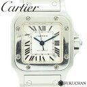 ◆168000円→158000円◆Cartier カルティエ サントスガルベSM シルバー ギョーシ ...