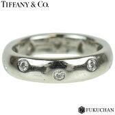 【TIFFANY&Co./ティファニー】ドッツリング 約9号 PT950×ダイヤモンド 【中古】≪送料無料≫