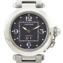 CARTIER カルティエ 腕時計 パシャC ビッグデイト ブラック文字盤 AT SS×シルバー W31053M7 メンズ レディース ユニセックス【中古】【送料無料】・・・