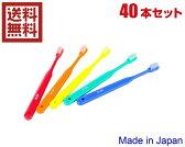 送料無料 40本入り 歯科医院用歯ブラシ 子供用(ふつう) 【日本製-------20本入り2セット-------