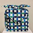 風呂敷 大判 105cm 日本製 縁起の良い七宝藍色 綿シャンタン 着物包み エコバッグ テーブルクロス
