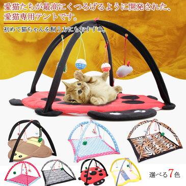 猫 おもちゃ 猫用 おもちゃ テント ゲーム 遊び ペット 運動不足解消 ストレス解消 寝る 両用 ペットベッド おもちゃ 猫用 折り畳み ペット用品 ペットグッズ