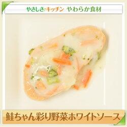 鮭ちゃん彩り野菜ホワイトソース/やわらか食、介護食、嚥下訓練にも(業務用・ご自宅用)