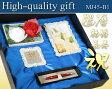 《名入れ彫刻》黒箱ギフトセット006【MJ45Set/パーカーIMボールペン1本】フォトフレーム/ミラープレート/お祝い/敬老の日/結婚祝い/ギフト/ウェディング/還暦祝い/ウェルカムボード/ミラーメッセージフレーム/Gift Set/PARKER