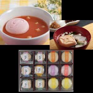 写真入り メッセージカード作成 マカロン風最中のスープとお吸い物 最中のコンビセットお湯を...
