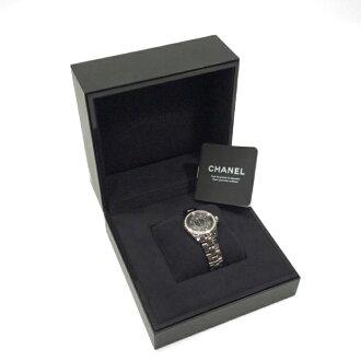 【中古】シャネルCHANEL時計J12クロマティック33ミリクオーツレディースダイヤ入りH2565
