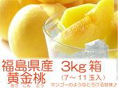 マンゴーのような桃『黄金桃3kg箱(7〜11玉入)』