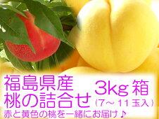 黄金桃と赤い桃の詰合せ3kg箱(7〜11玉入)』