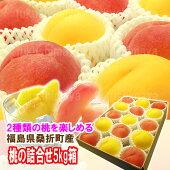 『黄金桃等の黄色い桃と特秀品桃を一緒にした夢の詰合せ♪5kg箱(12〜18玉入)』