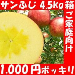 福島県産【サンふじ】:シャリシャリ+りんごの甘味をどうぞ!葉とらずりんごじゃないのには甘い...