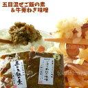 【送料無料】新・漬物セット 五目炊き込みご飯の素とごぼう玉ねぎ味噌のセット