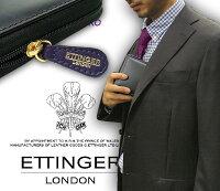 【ETTINGER/エッティンガー】■●BLACK-PURPLEEUROZIPPEDWALLET4C/C&COINPURSE(ジップウォレット4C/カード&コインパース)2097JR