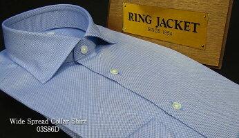 【RINGJACKET/リングヂャケット】ワイドカラードレスシャツ