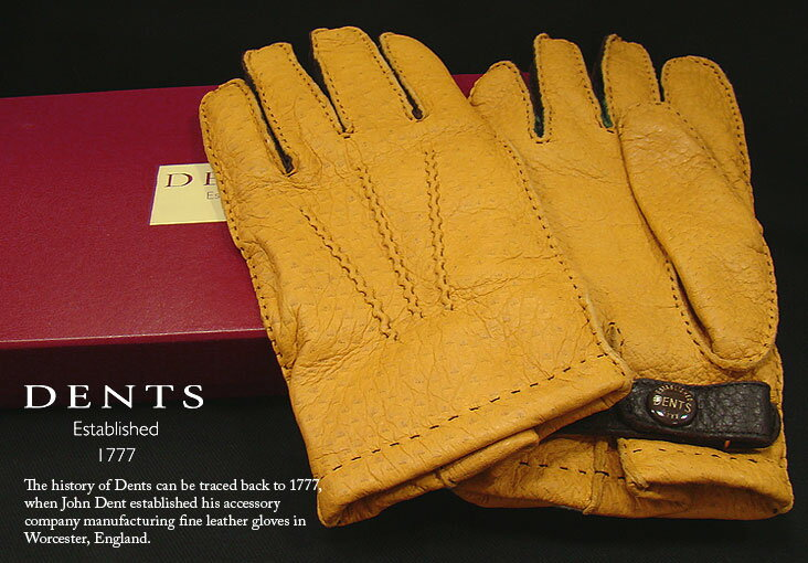 DENTS手袋 / デンツ手袋 / PECCARY ペッカリー ( 猪豚革 ) 3カラーコンビネーション [ CORK / コルク / コーク ] 15-1614 【楽ギフ_包装】:トラッド ハウス フクスミ