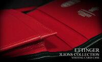 【エッティンガー/ETTINGER】3ライオンズ・コレクション【ビジティング・カードケース】(143JR/3LIONS/白ロゴ)(メンズ/レザー/名刺いれ/ネイビー×レッド/スリーライオンズ)【楽ギフ_包装】【あす楽対応】