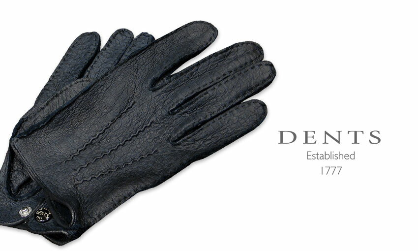 DENTS手袋 / デンツ手袋 PECCARY / ペッカリー ( 猪豚革 ) [ NAVY / ネイビー ] 15-1043 NAVY 【楽ギフ_包装】