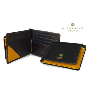 MONEY CLIP WITH POCKET Bifold leather wallet (money clip wallet / bridle) 03-6164 ●024 [NEW BLACK × GOLD] (complete custom-made product) [easy gift packaging]