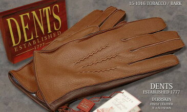 DENTS手袋 / デンツ手袋 DEERSKIN / ディアスキン ( 鹿革 ) [ TOBACCO × BARK ] 15-1016 T/B 【楽ギフ_包装】