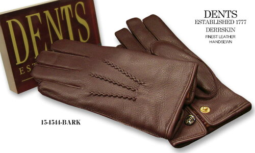 DENTS手袋 / デンツ手袋 / DEERSKIN [ バーク / BARK ] 15-1544BA