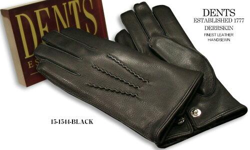 DENTS手袋 / デンツ手袋 / DEERSKIN [ ブラック / BLACK ] 15-1544B