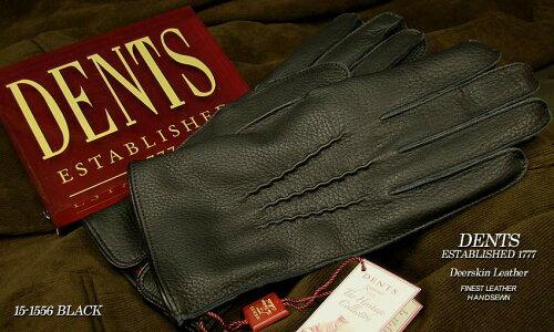 DENTS手袋 / デンツ手袋 / DEERSKIN / ディアスキン ( 鹿革 ) 15-1556 / BLACK