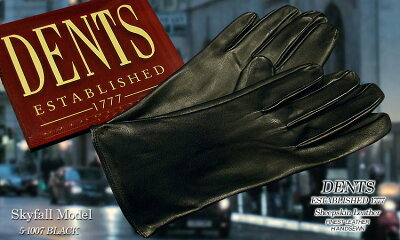 ■TRAD SALE! DENTS手袋/デンツ手袋/James Bond - Skyfall ModelSHEEP SKIN [ ブラック ] 5-...
