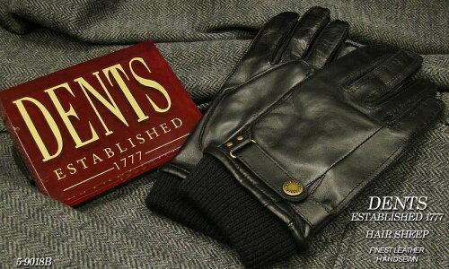 DENTS手袋 / デンツ手袋 / HAIR SHEEP ヘアシープ ( 羊革 ) [ ブラック / BLACK ] 5-9018B 【楽ギ...