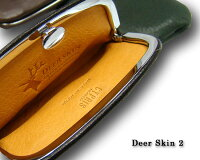 【キプリス/CYPRIS】DeerSkin2(ディアスキン2)/小銭入れ・大(ガマ口・押し口型)2357