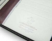 エッティンガー【ETTINGER】NAVY-WHITE-PURPLEコレクション(ロングウォレット)BH806AJR/NAVY-WHITE-PURPLEレザーメンズ長財布(札入れ・カードいれ)