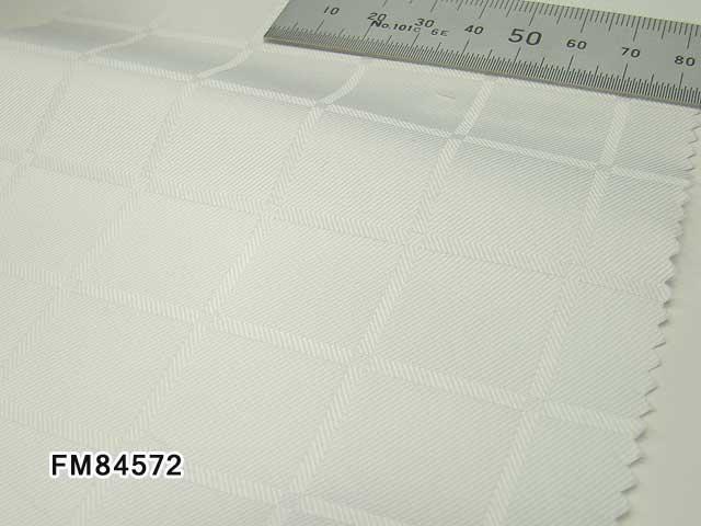 オリジナルオーダーシャツ●FM84572白地ドビーチェック 100番手双糸 100%cotton