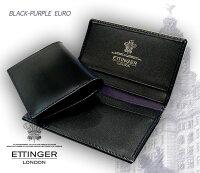 【ETTINGER/エッティンガー】■BLACK-PURPLEEUROコレクション(ビジティング・カードケース)143JR