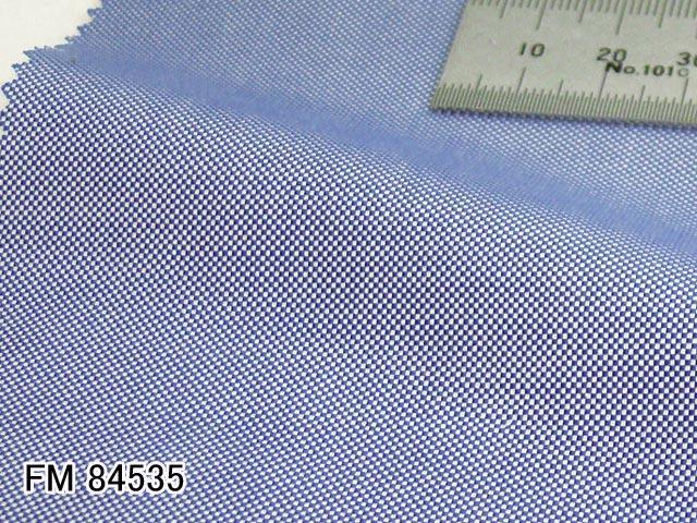 オリジナルオーダーシャツ●FM84535ロイヤルブルー系 ロイヤルオックスフォード 100番手双糸 100%cotton