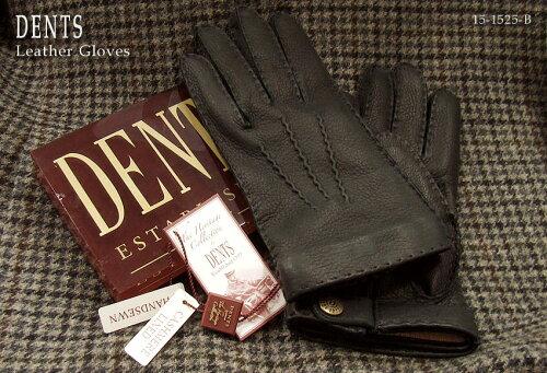DENTS手袋 / デンツ手袋 / DEERSKIN [ ブラック / BLACK ] 15-1525B