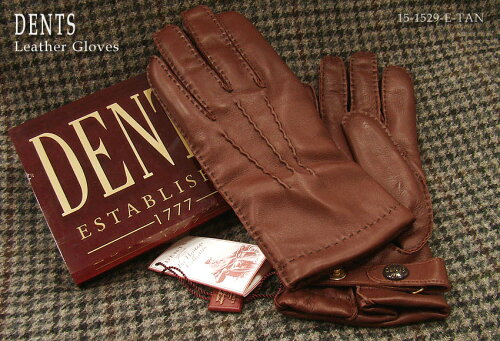 DENTS手袋 / デンツ手袋 / SHEEPSKIN シープスキン ( 羊革 ) [ ブラウン / E-TAN ] 15-1529E-TAN ...