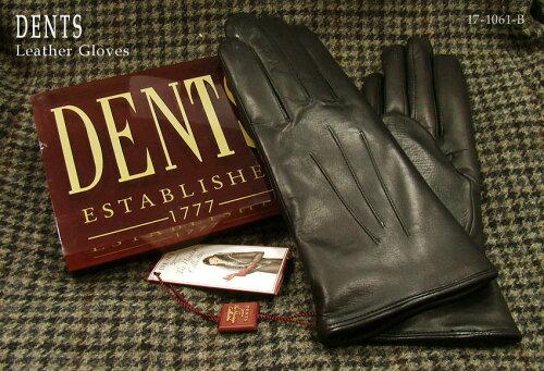 DENTS手袋 / デンツ手袋 ( 婦人物 ) SHEEPSKIN / シープスキン ( 羊革 ) [ ブラック / BLACK ] 17-...