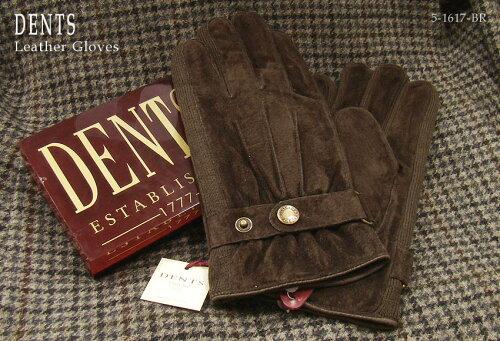 DENTS手袋 /デンツ手袋 / PIG SUEDE [ ブラウン ] 5-1617BR