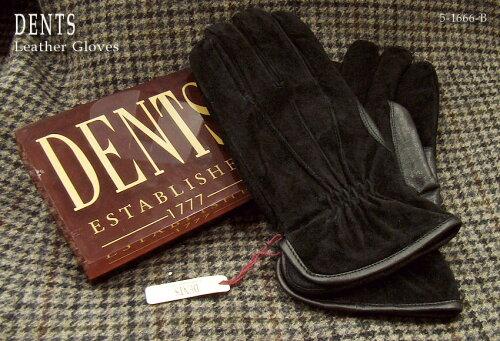 DENTS手袋 /デンツ手袋 / SUEDE [ ブラック ] 5-1666B