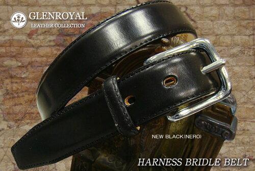 GLENROYAL / グレンロイヤル ●HARNESS BRIDLE BELT ( ステッチ入 ) 06-6234-NEW BLACK ( NERO ) ...