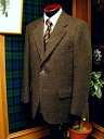 Messenger Fall/Winter Tweed Dark Brown Sack Sportcoat